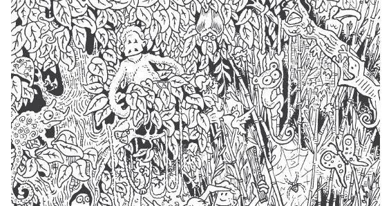malbogen: Dschungel / jungle