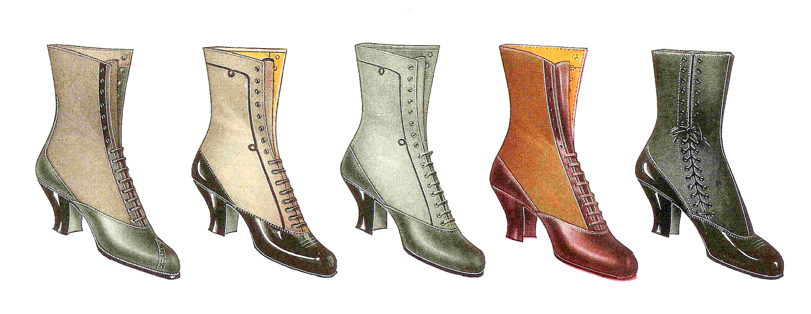 Boots fashion pic boots clip art - I Ve Posted Some More Of My Favorite Vintage Fashion Clip Art Shoes Aren T These Spectacular Vintage Boots This Vintage Graphic Is From A 1917 Clothes