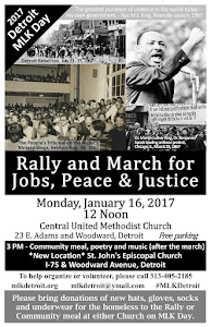 14th Annual Detroit MLK Day Rally & March, Mon. Jan. 16, 2017, Noon at CUMC, Woodward at East Adams