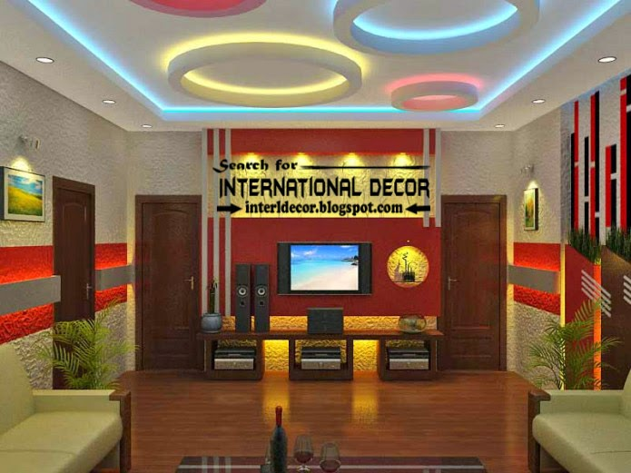 Modern Suspended Ceiling Colorful Lights For Living Room Ceiling Lighting  Ideas Part 39