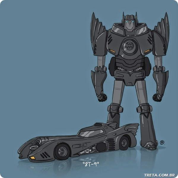 carros famosos em versão Transformers