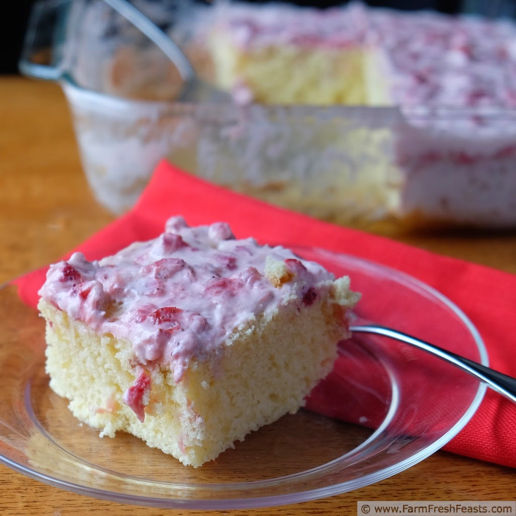 Farm Fresh Feasts Strawberry Lemon Bisquick Snack Cake