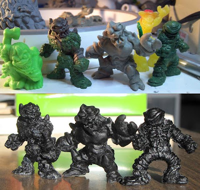 NUKED! Resin Mini Figures Wave 1 Prototypes and Black Colorway by oOMoSOo - Skekitor, Clawgrugg and Oculus Viri