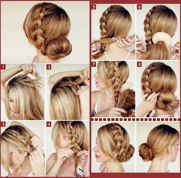 Прически плетение на длинные волосы простые