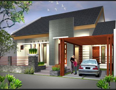 rumah miimalis dengan batu alam