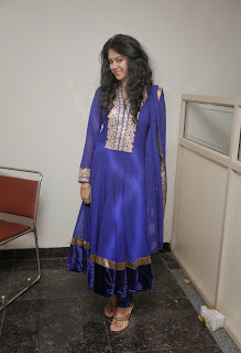 Actress Kamna Jethmalani Cute Pictures in Blue Salwar Kameez 0018