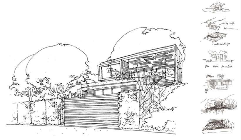 Sketch of Stunning Spa House in Cape Town, South Africa