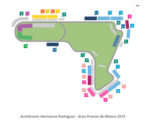 Formula 1 gp en mexico 2015 venta de boletos fechas y for Puerta 2 autodromo hermanos rodriguez