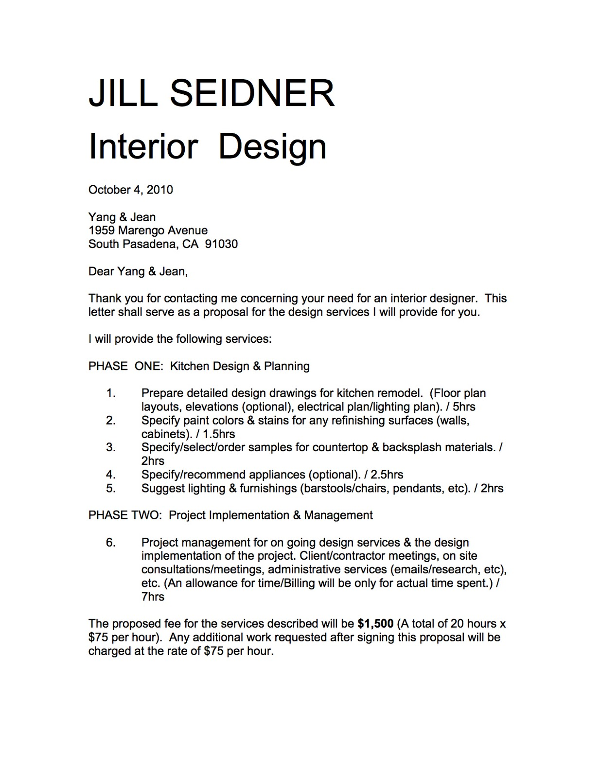 Jill Seidner Interior Design Yang Jean Kitchen