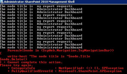 PowerShell error when running the above command