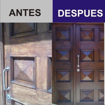 Restaurar madera puerta de exterior for Pintura para puerta de madera exterior