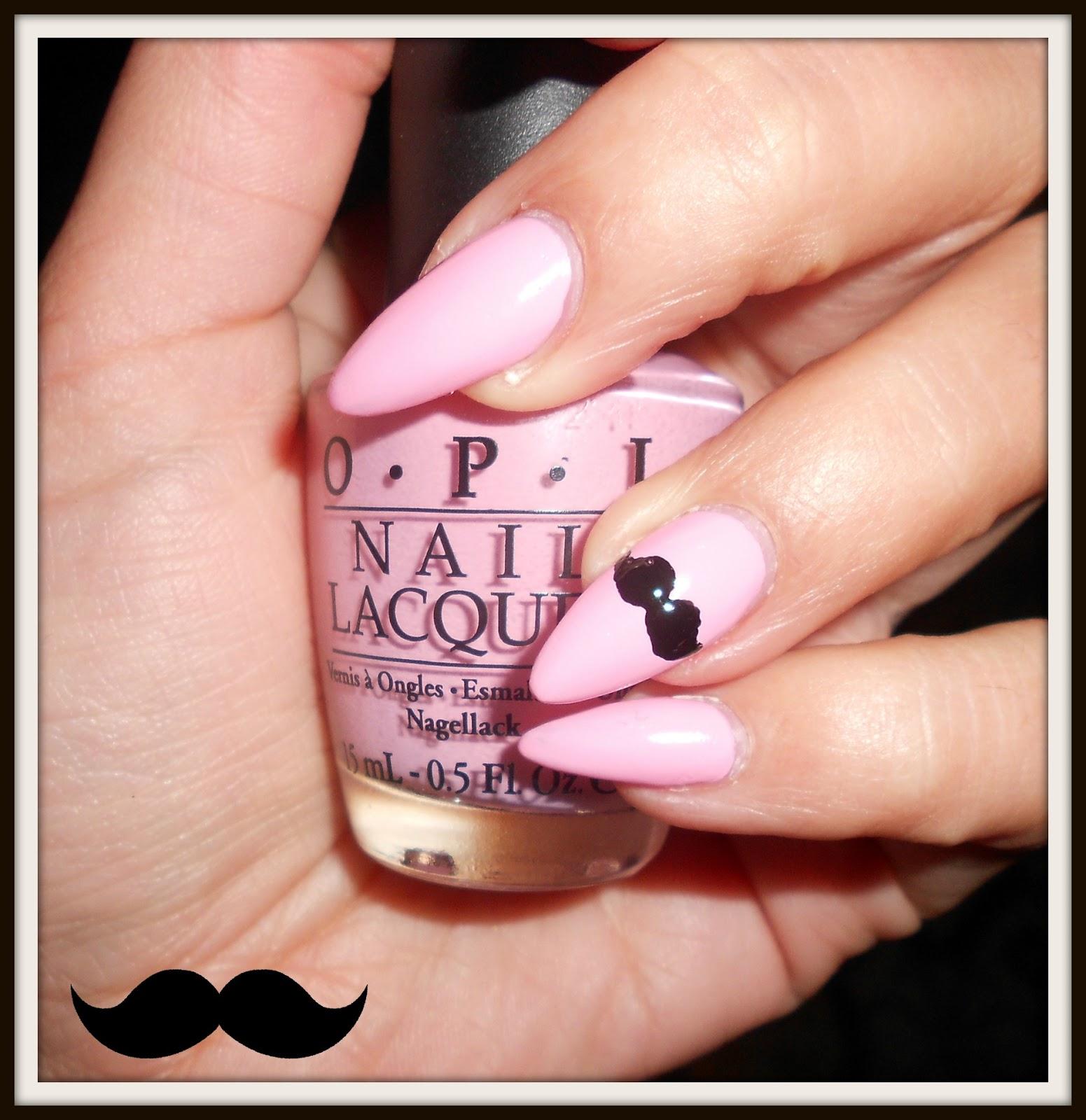Lola loves sparkles cute moustache nail art step by step cute moustache nail art step by step prinsesfo Choice Image