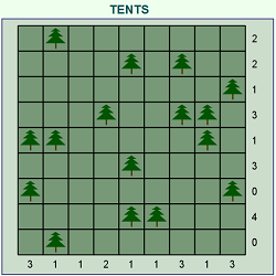 Camp or Tents (Logical Thinking Puzzle Game)