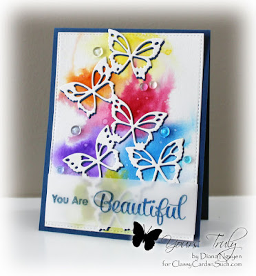 Diana Nguyen, Memory Box, Fairyland butterflies, butterflies, card, My Favorite Things