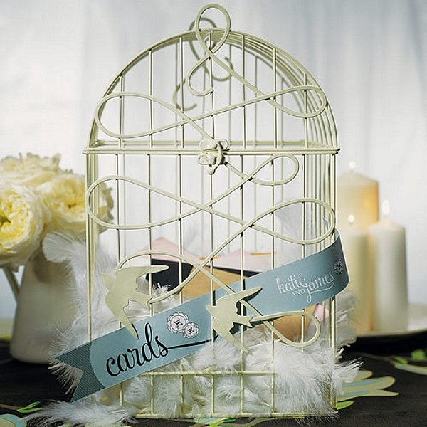 19 Wedding Gift Card Box Ideas – Birdcage Wedding Card Box