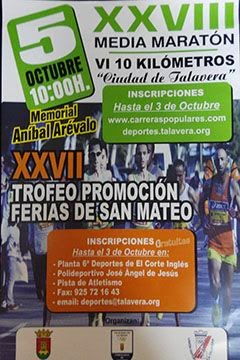 XXVIII Media Maratón y VI 10 Km Ciudad de Talavera