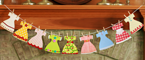 como fazer vestidinhos mini vestido de papel molde para decorar festas ou quarto de menina
