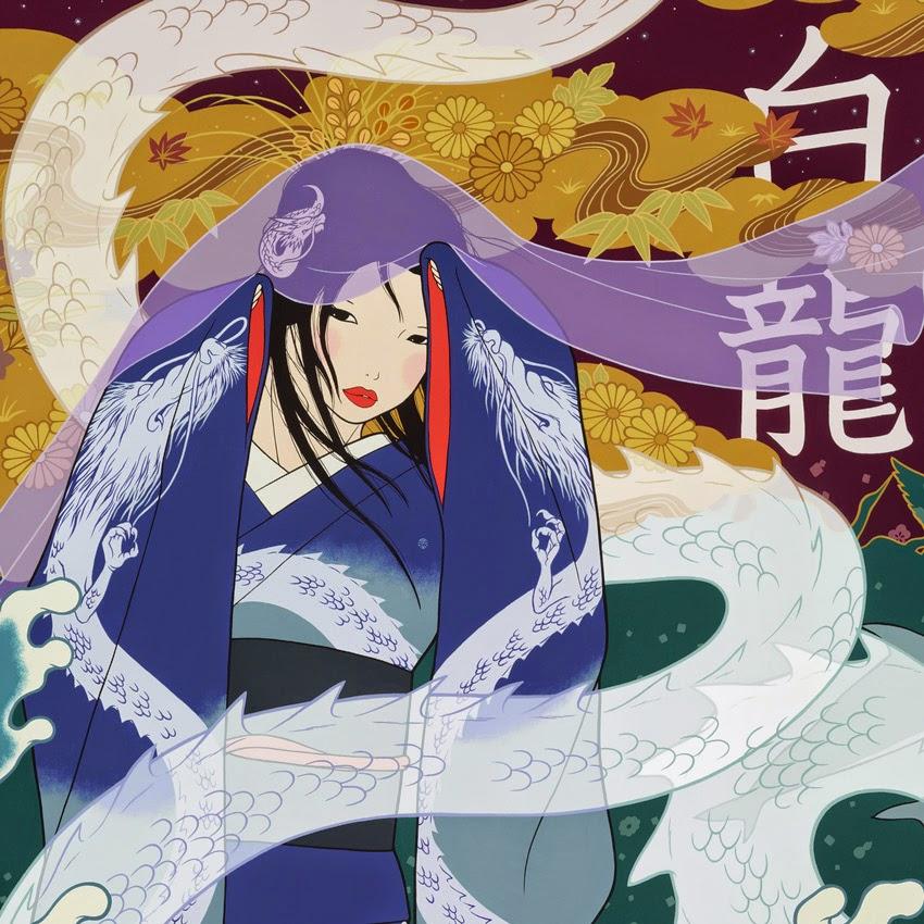 Yumiko Kayukawa Prints Yumiko Kayukawa White Dragon