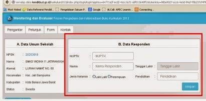 Petunjuk Penggunaan Aplikasi Monitoring Dan Evaluasi Proses Pengadaan Serta Ketersediaan Buku Kurikulum 2013