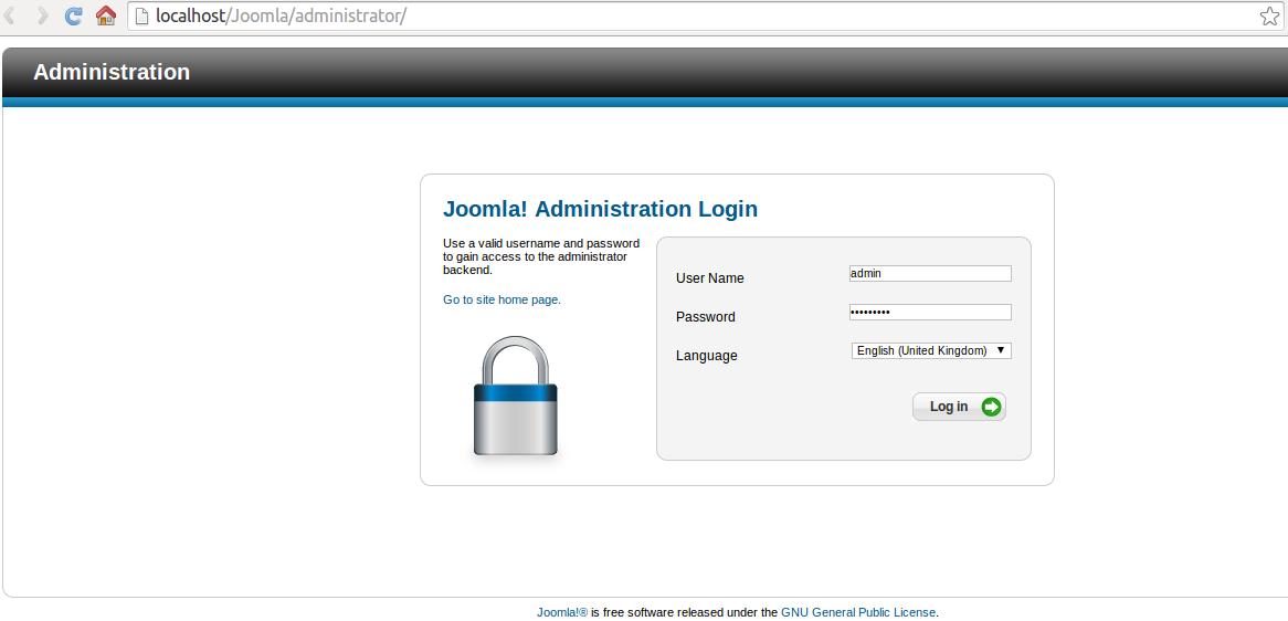 Admin Joomla