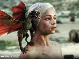 Emilia Clarke Daenerys Targaryen Dragon on Shoulder HD Wallpaper