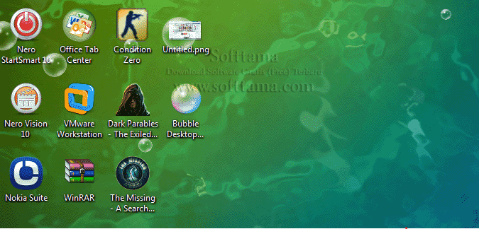 Screenshot software Animated Bubble Desktop Wallpaper