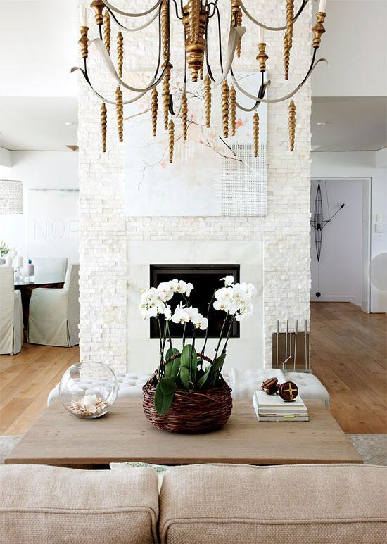 Coastal Chic Cool With Coastal Cottage Fireplaces Photos