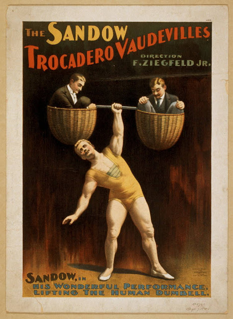 classic posters, free download, graphic design, movies, retro prints, theater, vintage, vintage posters, The Sandow Trocadero Vaudeville - Vintage Theater Poster