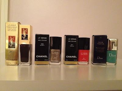 Esmaltes YSL CH Dior