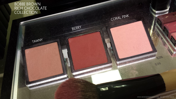 Bobbi Brown Rich Chocolate Makeup Collection Indian darker skin beauty blog photos Blushes Tawny Coral Pink Berry