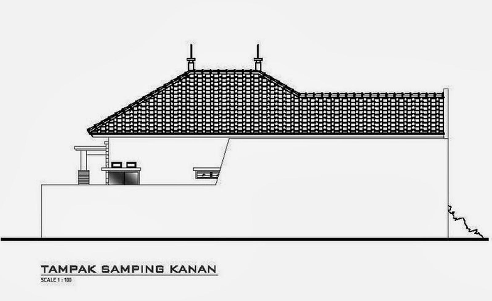 Sketsa Eksterior Rumah Minimalis 1 Lantai Desain Denah Rumah