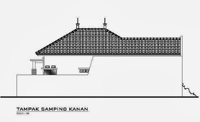 sketsa eksterior rumah minimalis 1 lantai desain denah