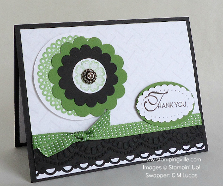 Lacy & Lovely Stamp Set Thank You Card