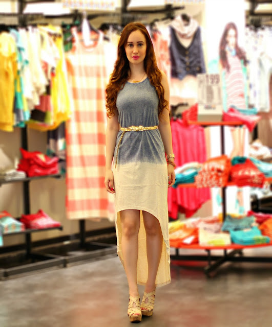 Ombre Dyed High-Low Dress