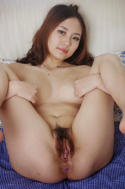 Asian Cutie With a Tight Hairy Pussy