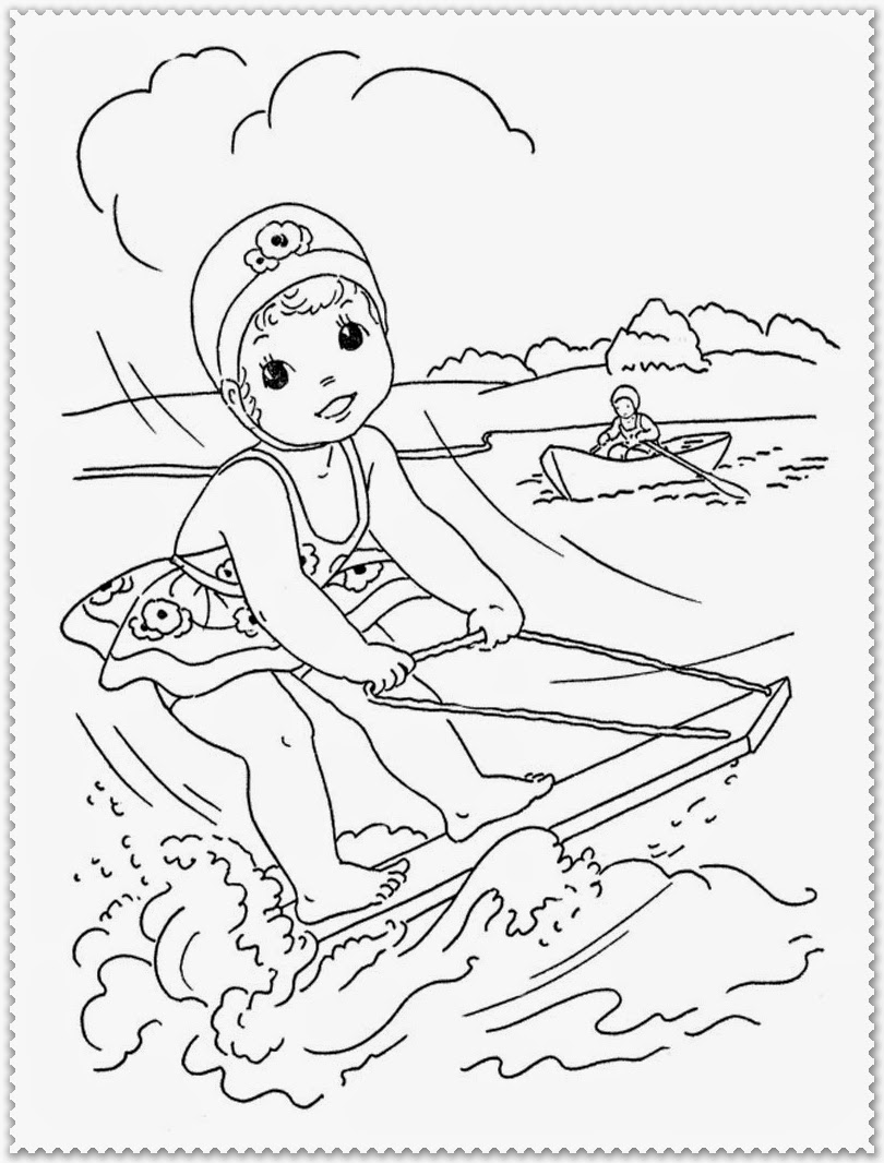 summer coloring pages for kids printable