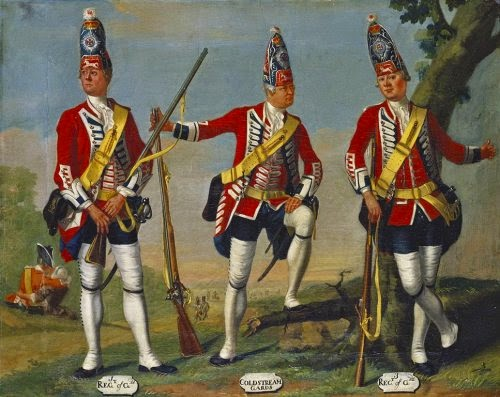 1st and 3rd Regiments of Foot Guards and Coldstream Guards, Grenadiers, 1751