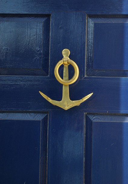 Since The House Is White (dirty White) We Like The Contrast With The Navy  And We Are Going To Get An Anchor Door Knocker. Here Are Some Images I  Found To ...