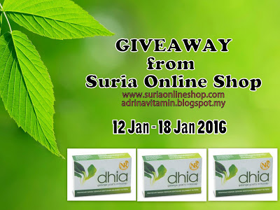 Giveaway from Suria Online Shop