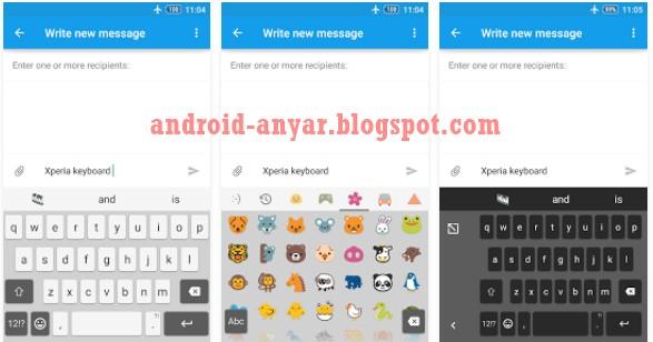 Tutorial Memasang Aplikasi Xperia Keyboard di Android Apa Saja Tanpa Root