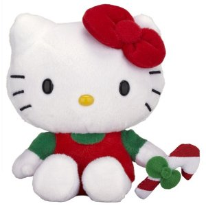 Hello Kitty Christmas plush soft toy stocking filler or Christmas decoration