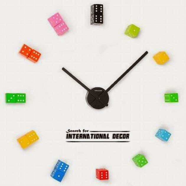 diy wall clock, cool wall clocks,creative wall clocks,playful wall clock