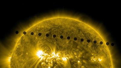 foto brillante del planeta venus