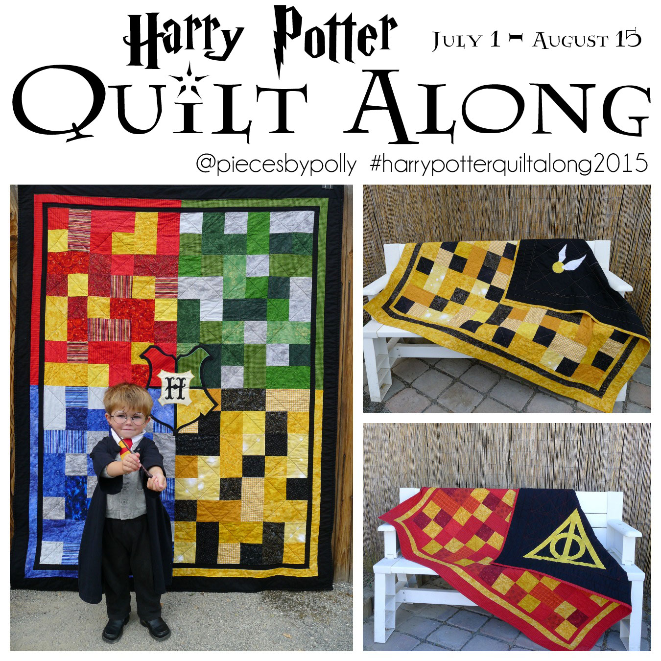 Pieces by Polly: Harry Potter Quilt-Along at Pieces by Polly : harry potter quilt - Adamdwight.com