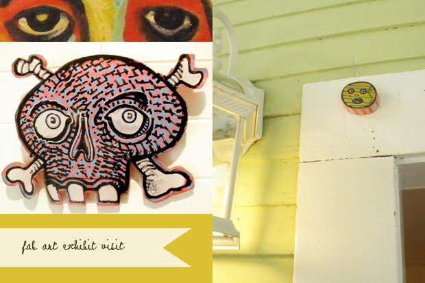 monsters by Scot Bullik at Denman Island Arts Centre Art Center