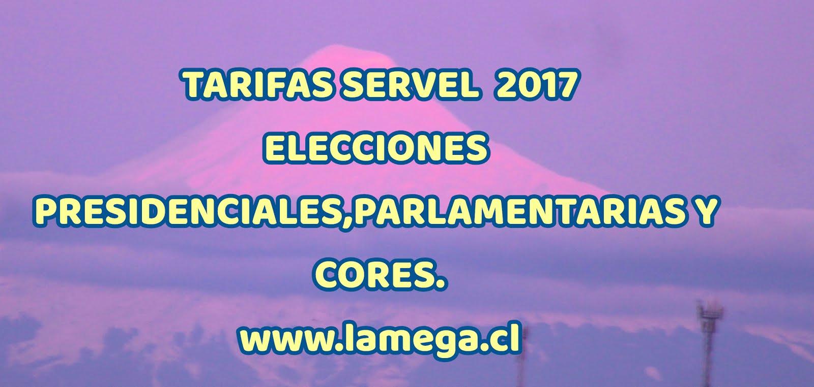 TARIFAS SERVEL 2017