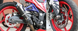 Kawasaki Ninja 250R Modified Airbrush Rim