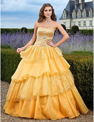 vestido de noche de orgaza y lentejuelas Charlize