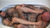 Rub a dub dub, two bears in a tub