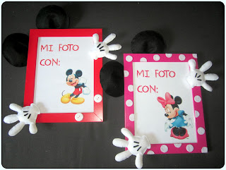 Marco de Fotos Mickey y Minnie Fieltro - ChikiPol